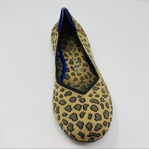 SINGLE (left) ROTHY'S SPOTTED LEOPARD ROUND FLAT